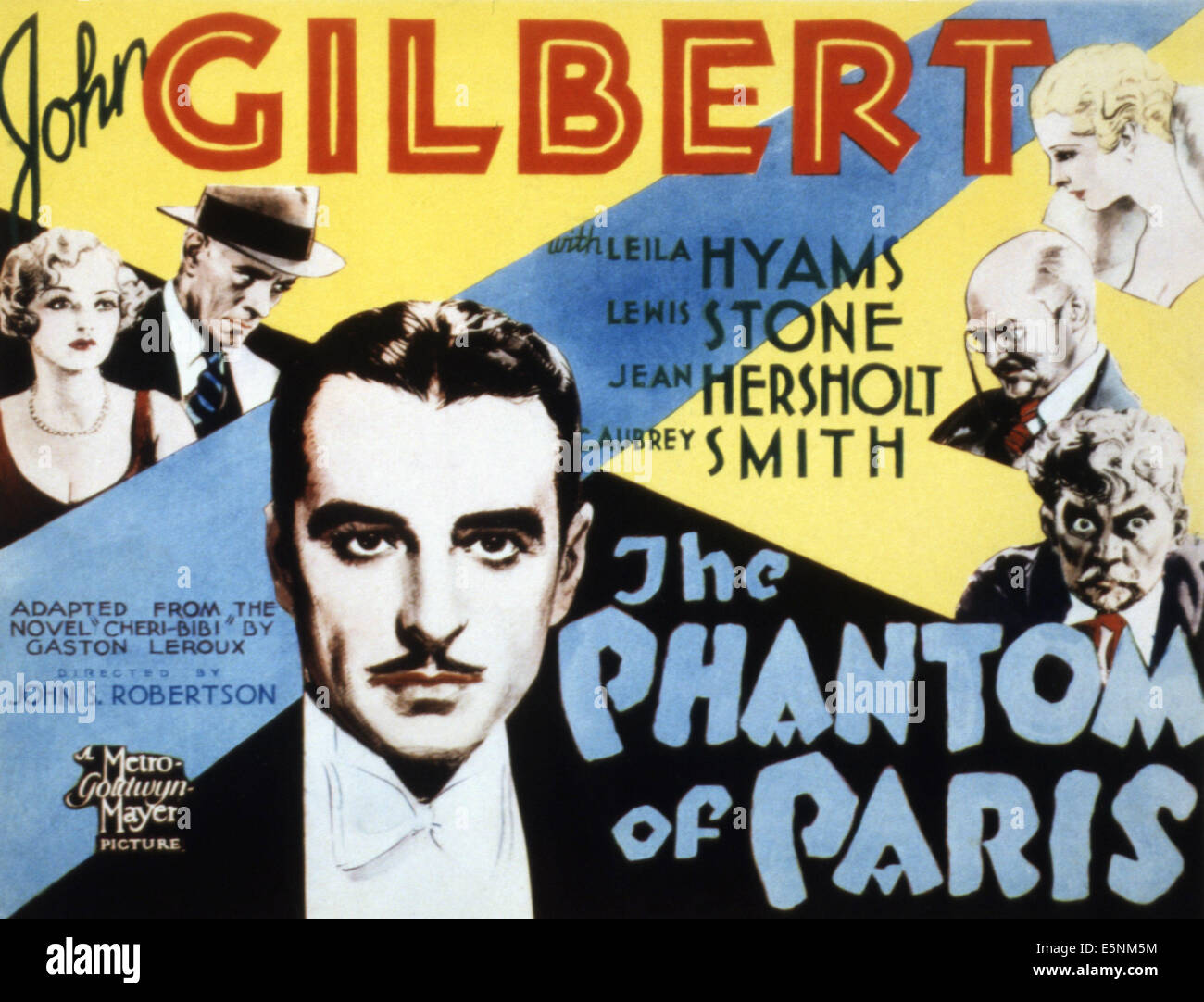 THE PHANTOM OF PARIS, John Gilbert, 1931 - Stock Image