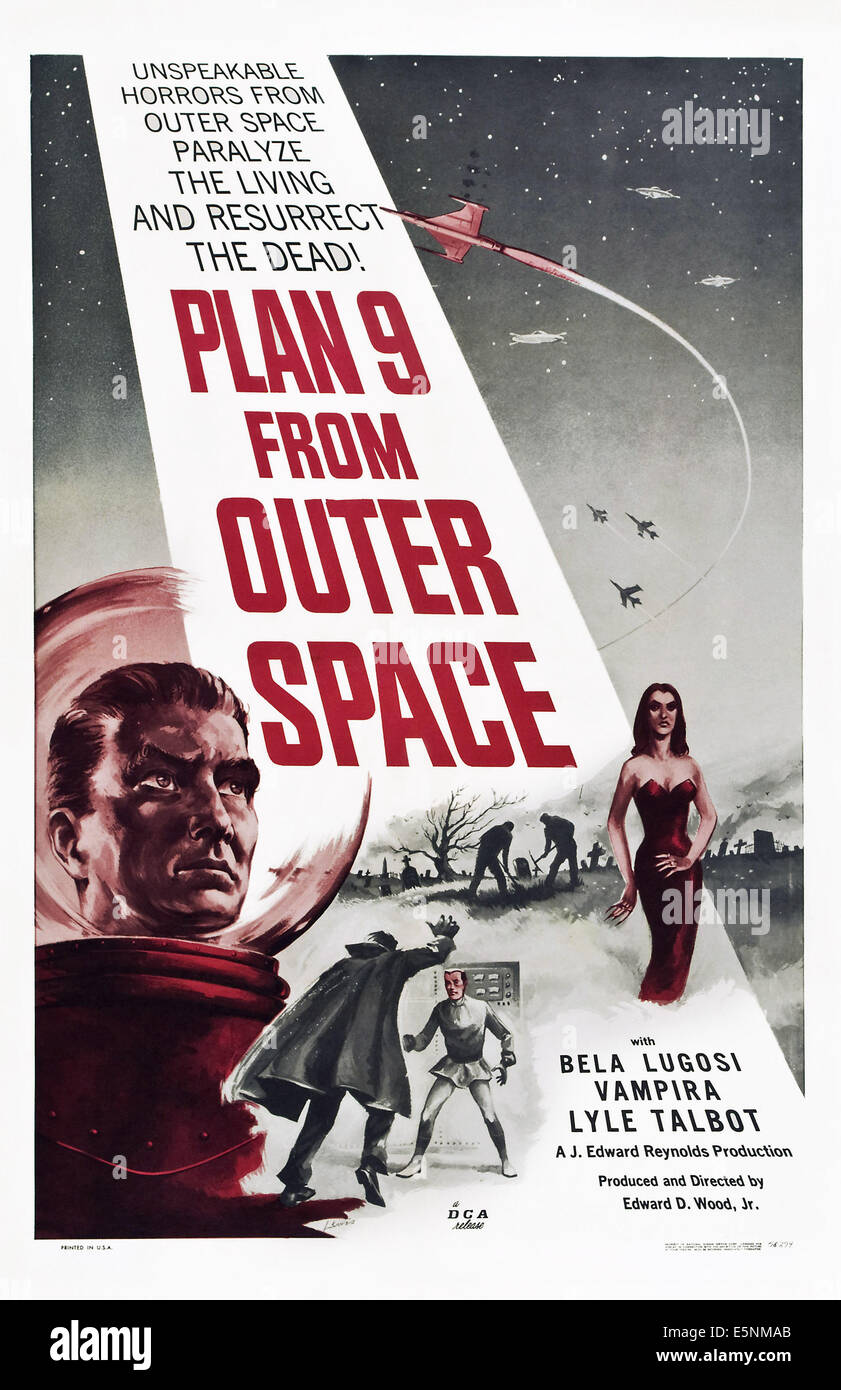 PLAN 9 FROM OUTER SPACE, Vampira, 1959 - Stock Image
