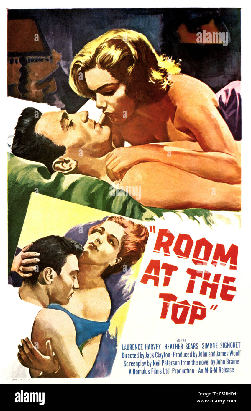 ROOM AT THE TOP, Simone Signoret, Laurence Harvey, 1959 - Stock Image