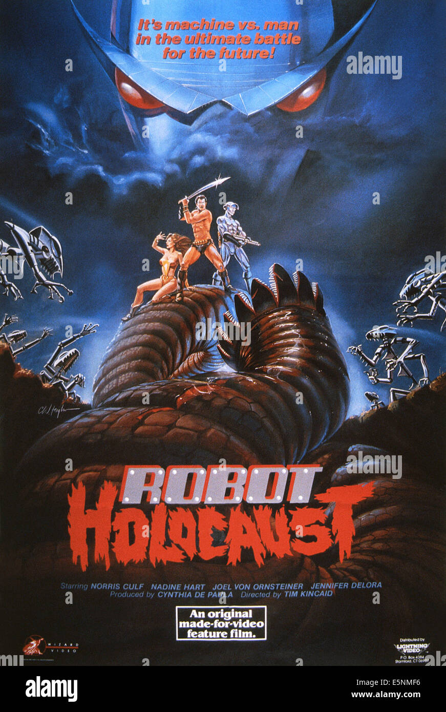 ROBOT HOLOCAUST, US poster, 1986, © Empire Pictures/courtesy Everett Collection - Stock Image