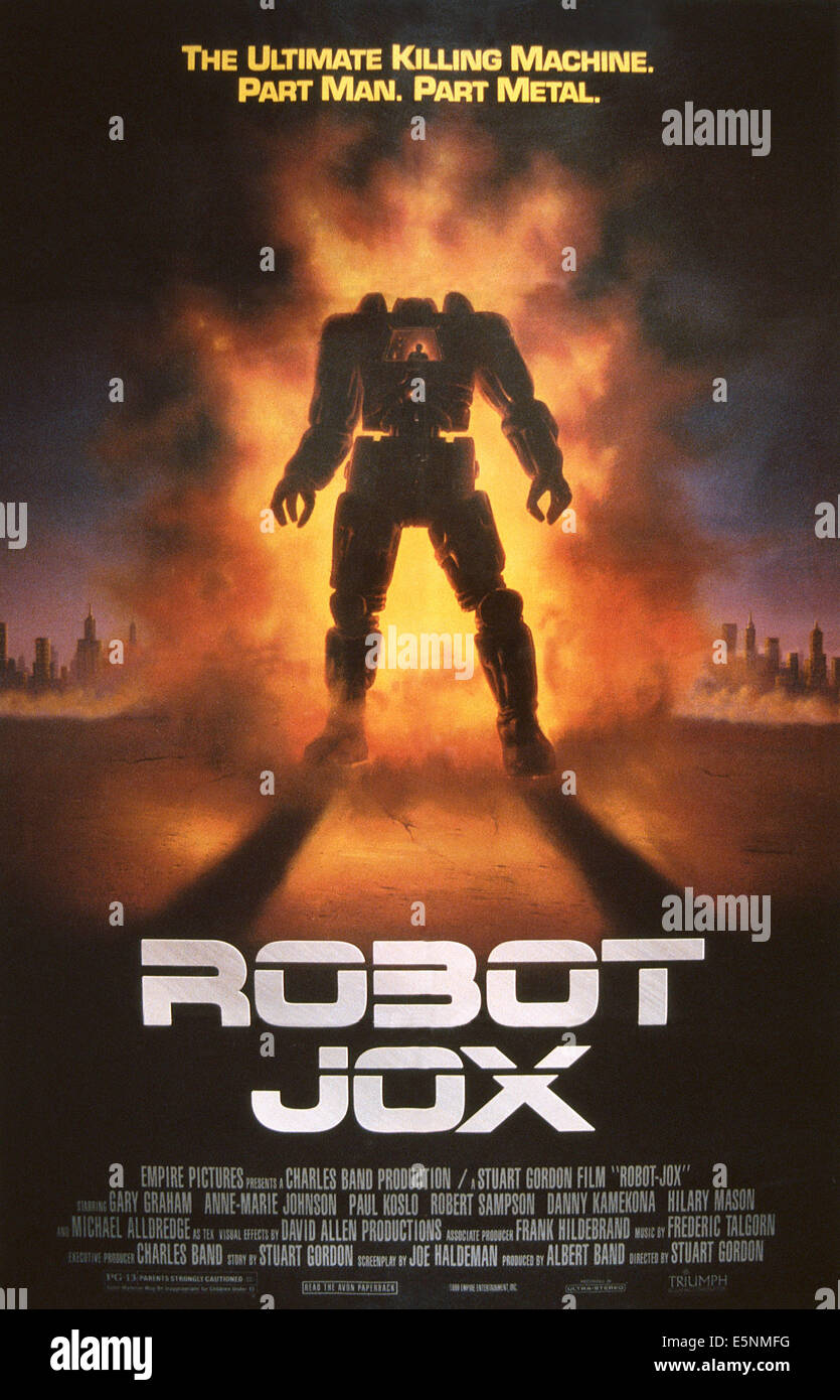 ROBOT JOX, US poster, 1989, © Triumph Releasing/courtesy Everett Collection - Stock Image