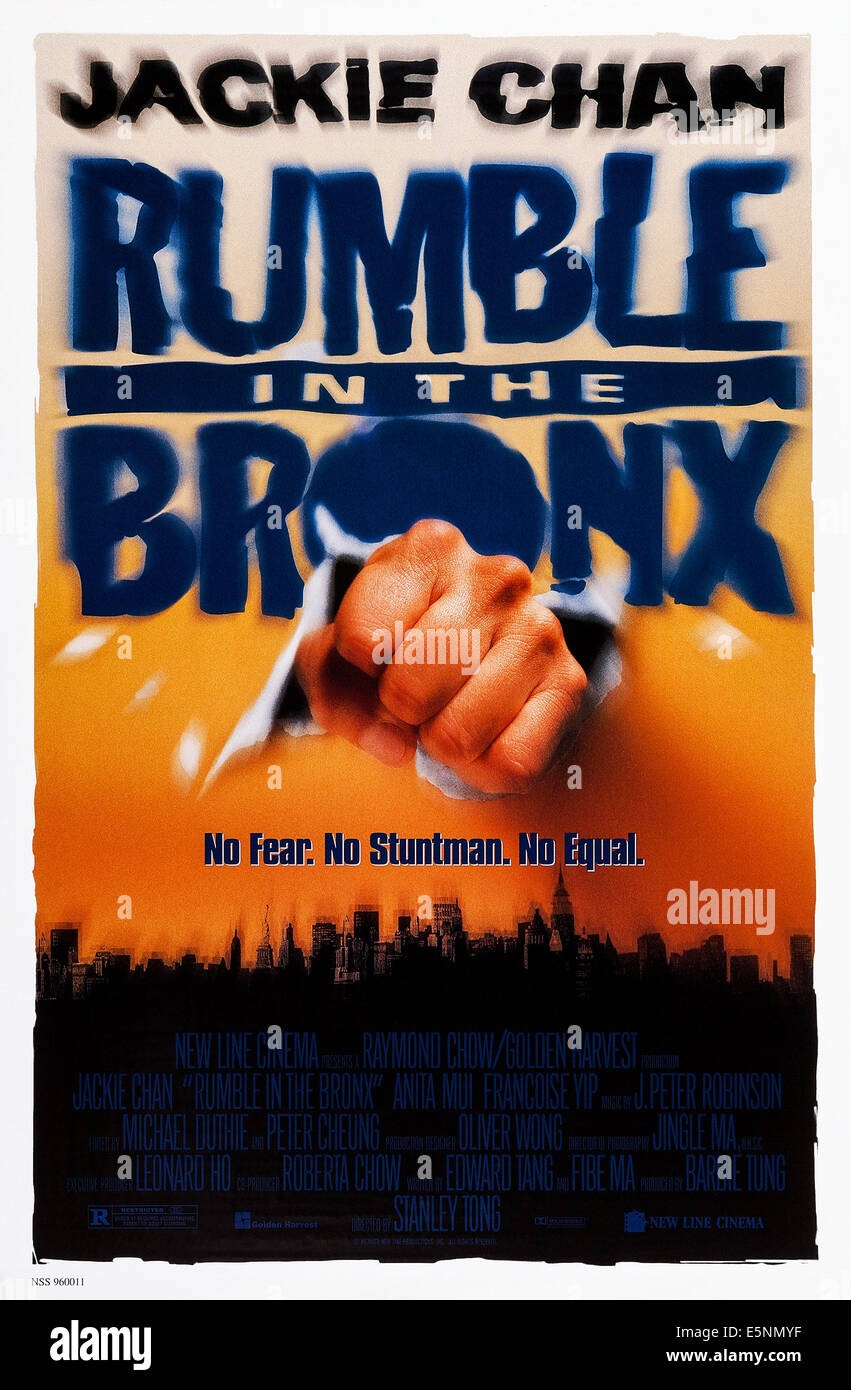 RUMBLE IN THE BRONX, (aka HUNG FAN KUI), US poster, 1995, © New Line/courtesy Everett Collection - Stock Image