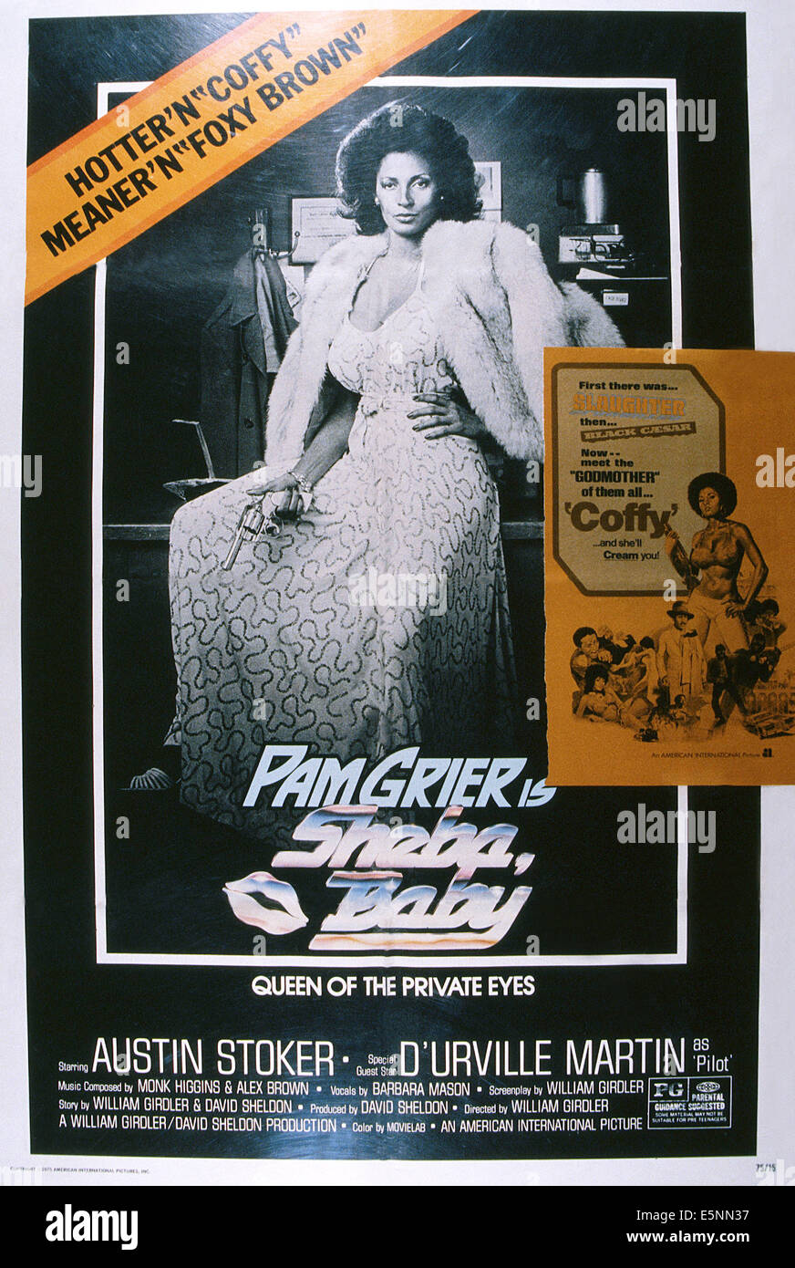 SHEBA, BABY, US poster, Pam Grier, 1975 - Stock Image