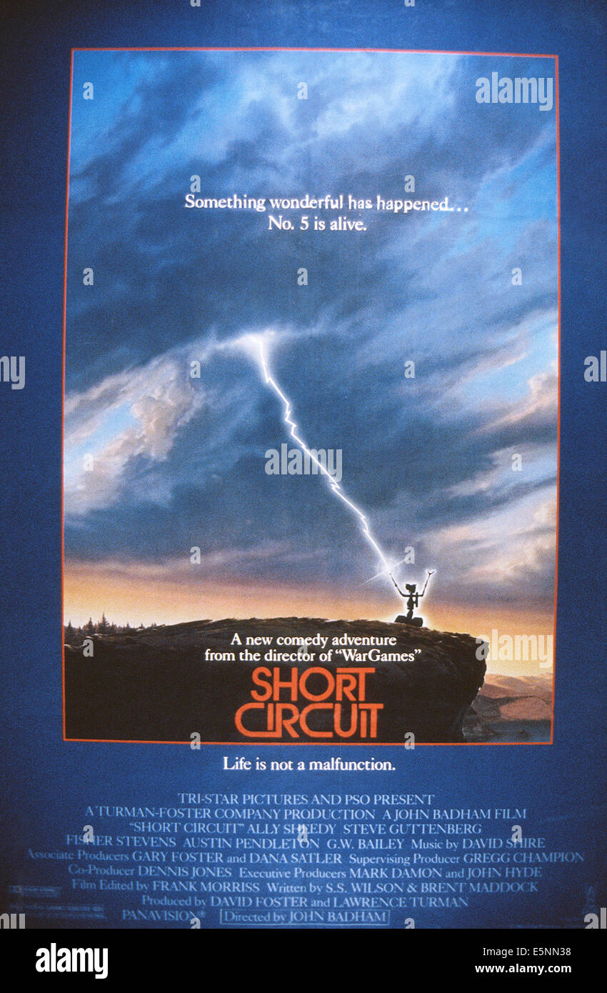 Short Circuit Us Poster Art Number 5 The Robot 1986 Tristar Is Alive Johnny From Movie Pictures Courtesy Everett Collection