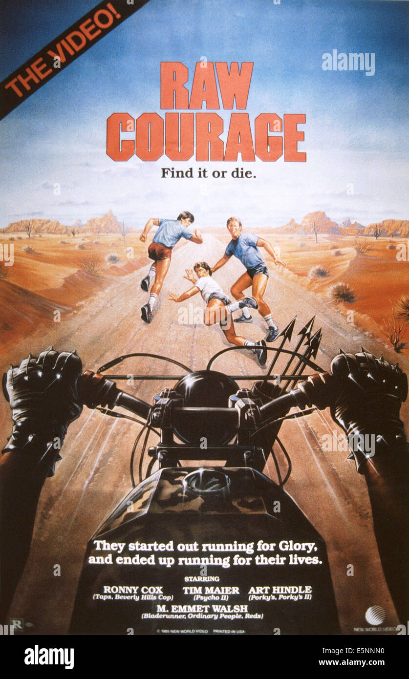 RAW COURAGE, (aka COURAGE), US poster, 1984, © New World/courtesy Everett Collection - Stock Image