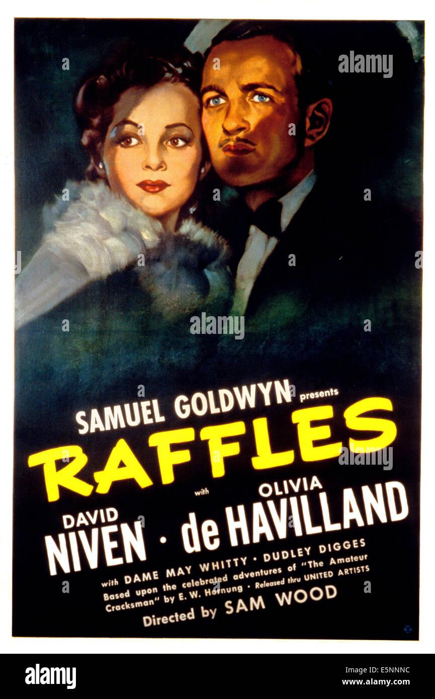 RAFFLES, Olivia De Havilland, David Niven, 1939 - Stock Image