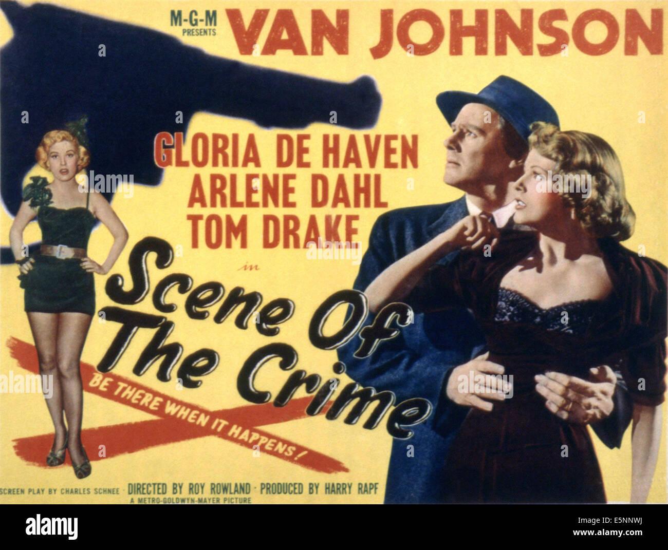 SCENE OF THE CRIME, Gloria DeHaven, Van Johnson, Arlene Dahl, 1949 Stock Photo