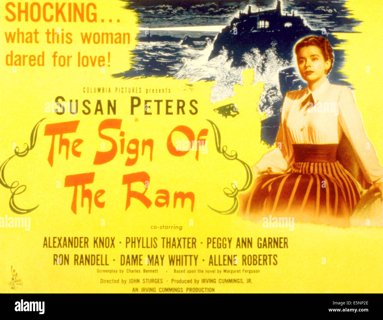 THE SIGN OF THE RAM, Susan Peters, 1948 - Stock Image