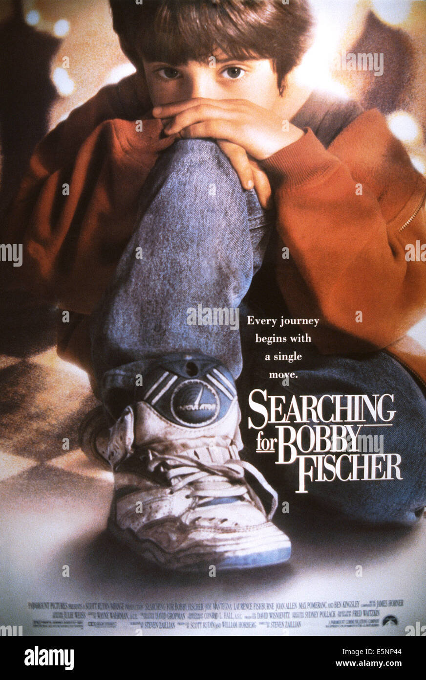 SEARCHING FOR BOBBY FISCHER, US poster, Max Pomeranc, 1993, © Paramount/courtesy Everett Collection - Stock Image