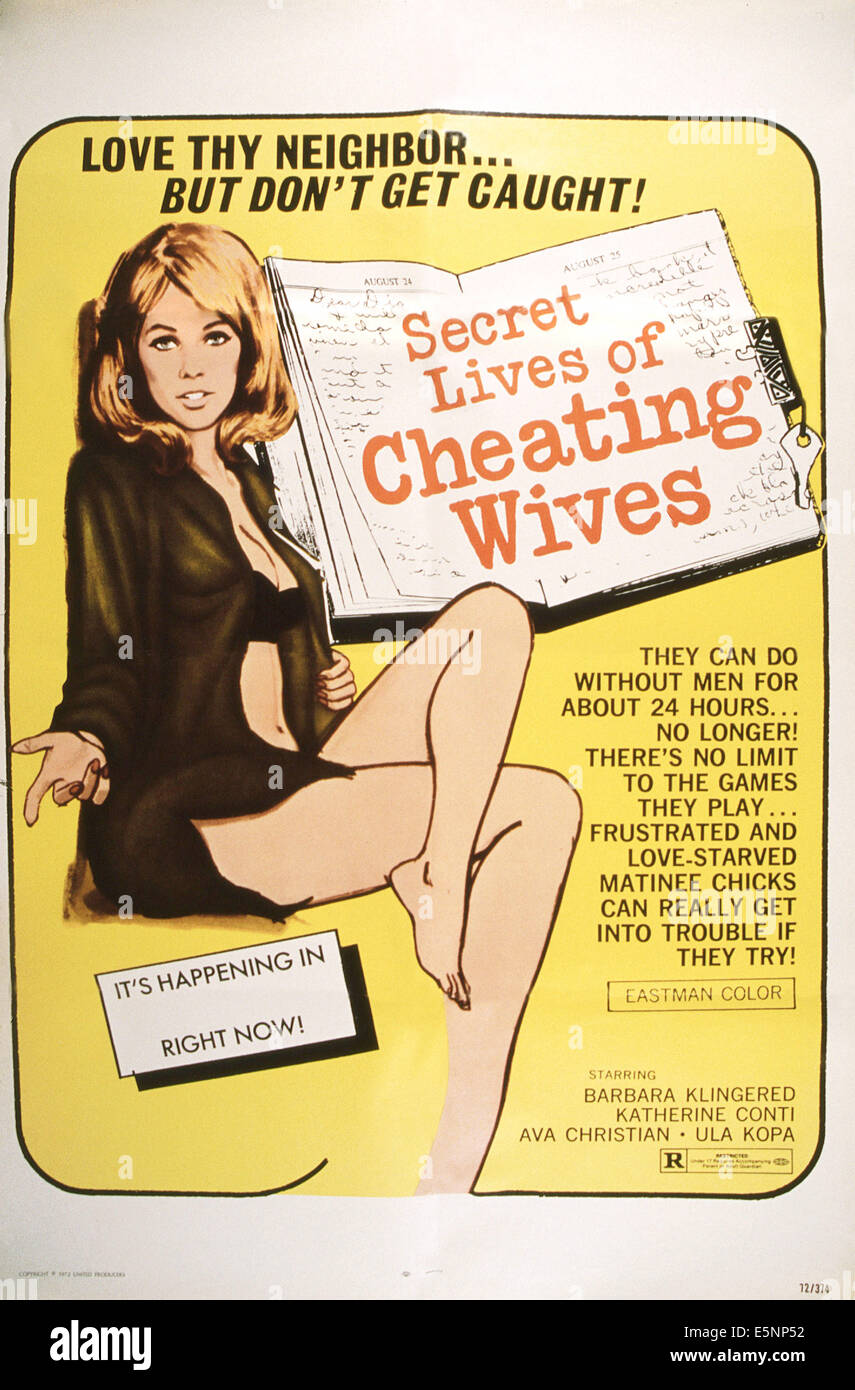 THE SECRET LIVES OF CHEATING WIVES, US poster, 1972 - Stock Image