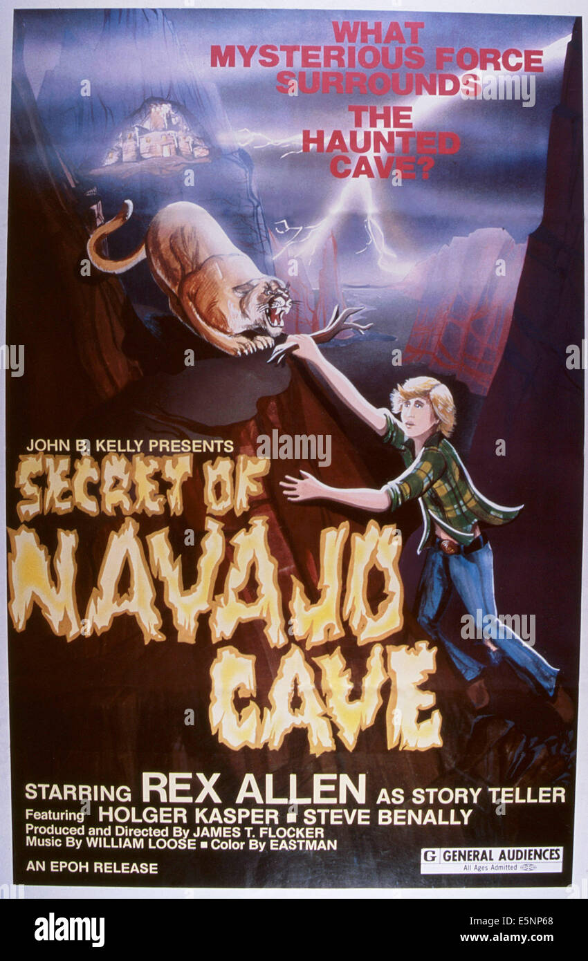 THE SECRET OF NAVAJO CAVE, US poster, 1976 - Stock Image