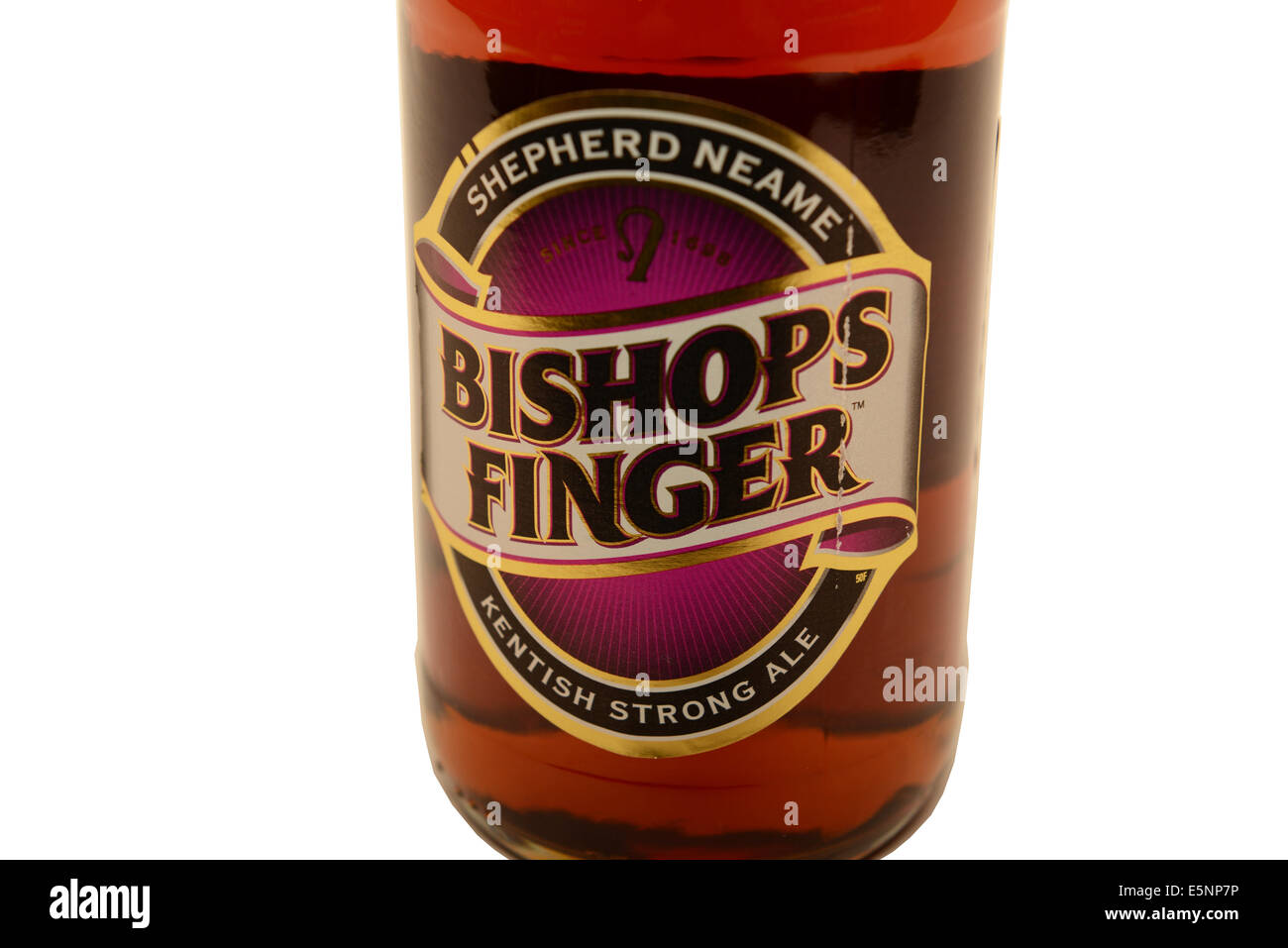 Bishops Finger strong ale - Stock Image