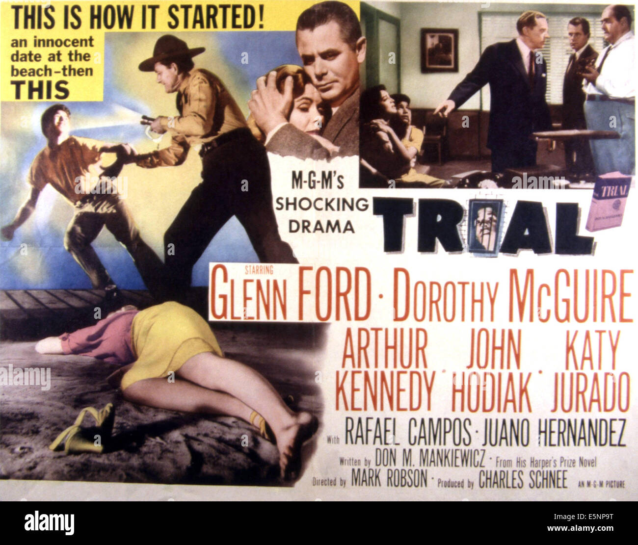 TRIAL, Glenn Ford, Dorothy McGuire, 1955 - Stock Image
