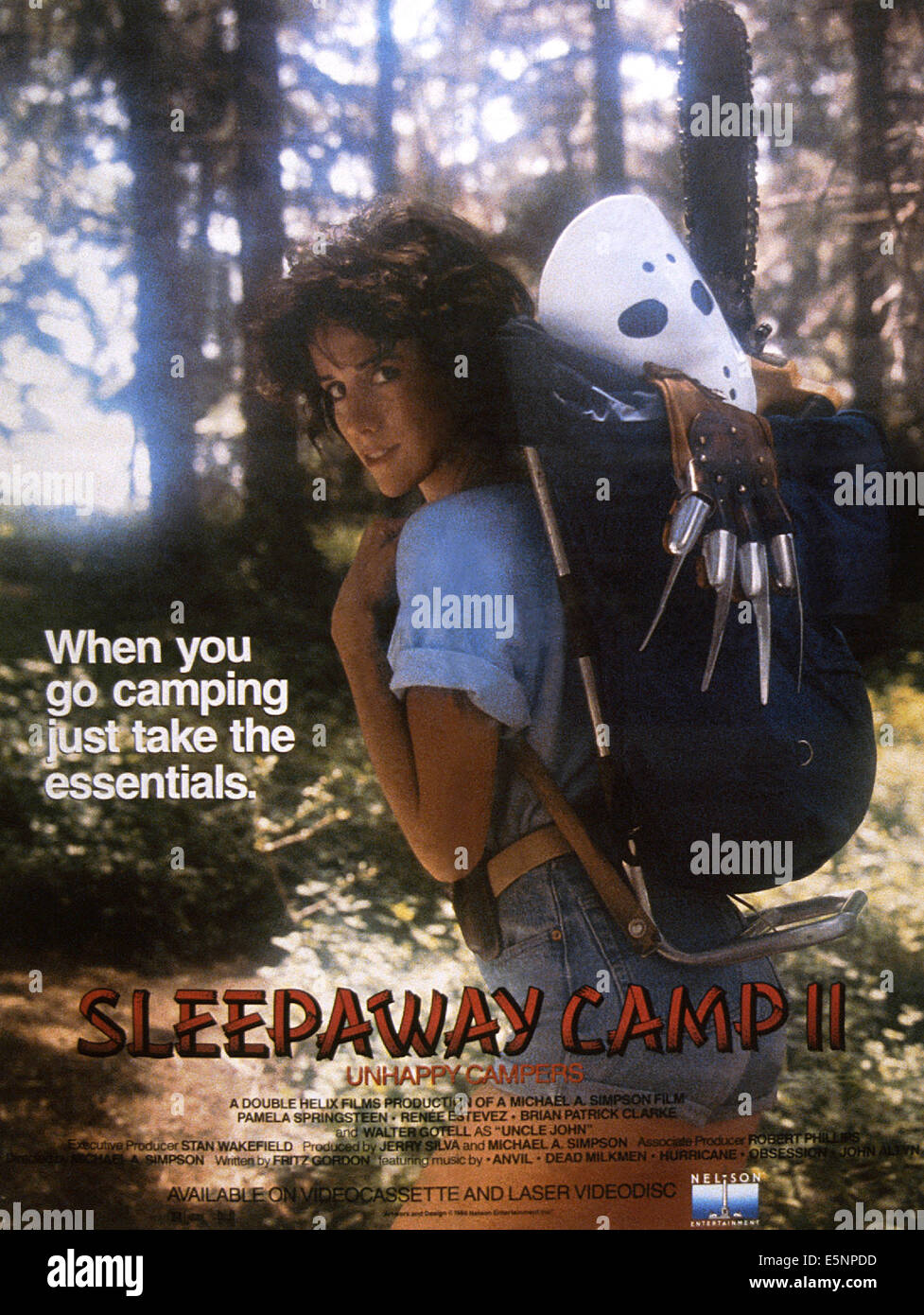 SLEEPAWAY CAMP II UNHAPPY CAMPERS US Poster Art 1988 CNelson Entertainment Courtesy Everett Collection