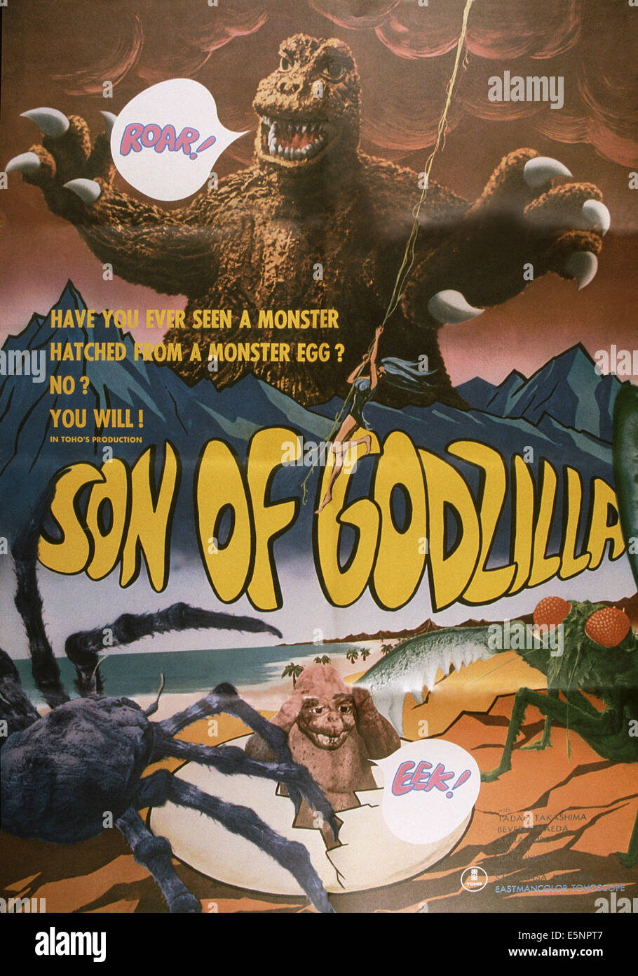 SON OF GODZILLA, (aka KAIJUTO NO KESSEN: GOJIRA NO), US poster, 1967 - Stock Image