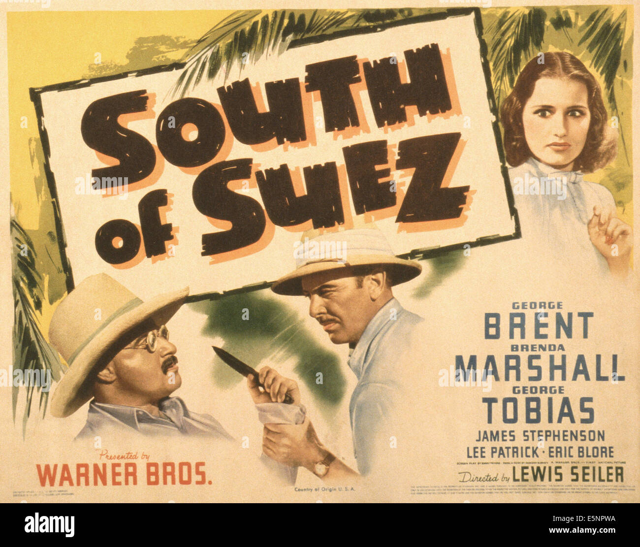 south-of-suez-us-poster-from-left-george-tobias-george-brent-brenda-E5NPWA.jpg