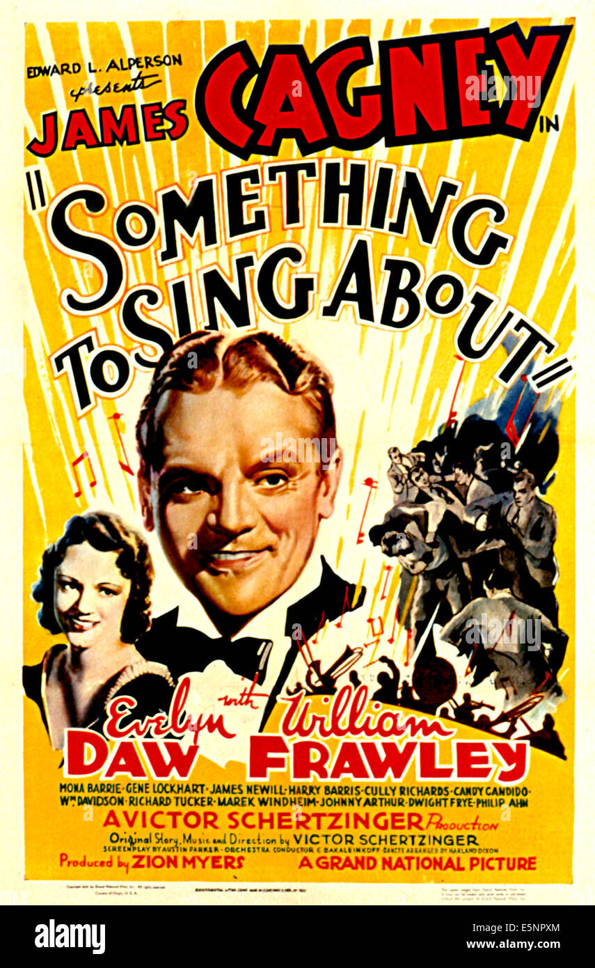 SOMETHING TO SING ABOUT, Evelyn Daw, James Cagney, 1937 Stock Photo - Alamy