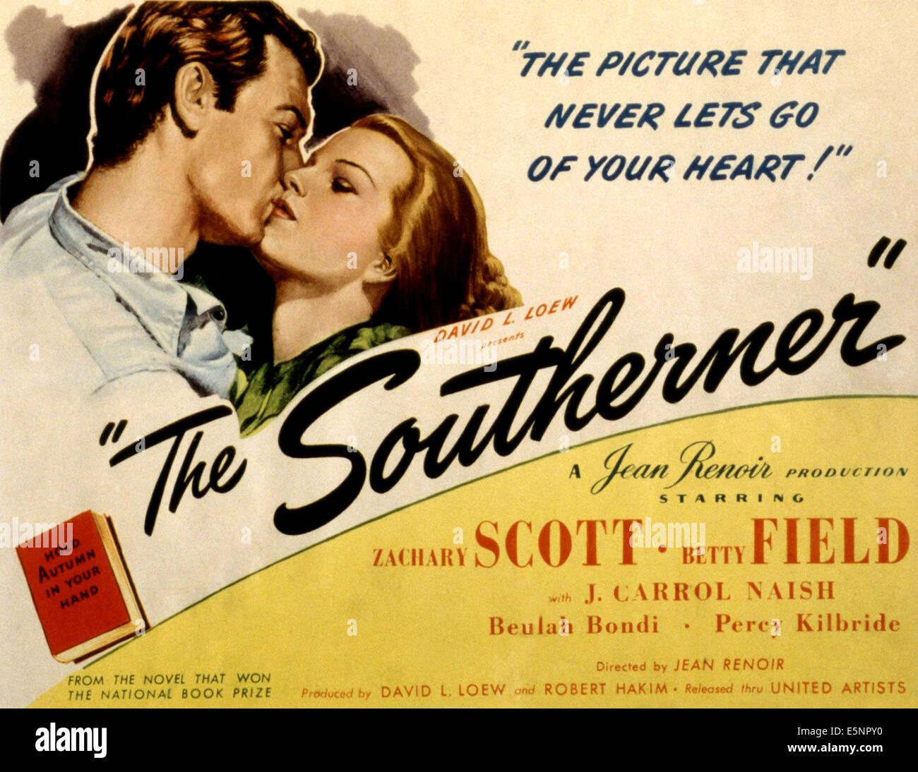 THE SOUTHERNER, Zachary Scott, Betty Field, 1945 - Stock Image