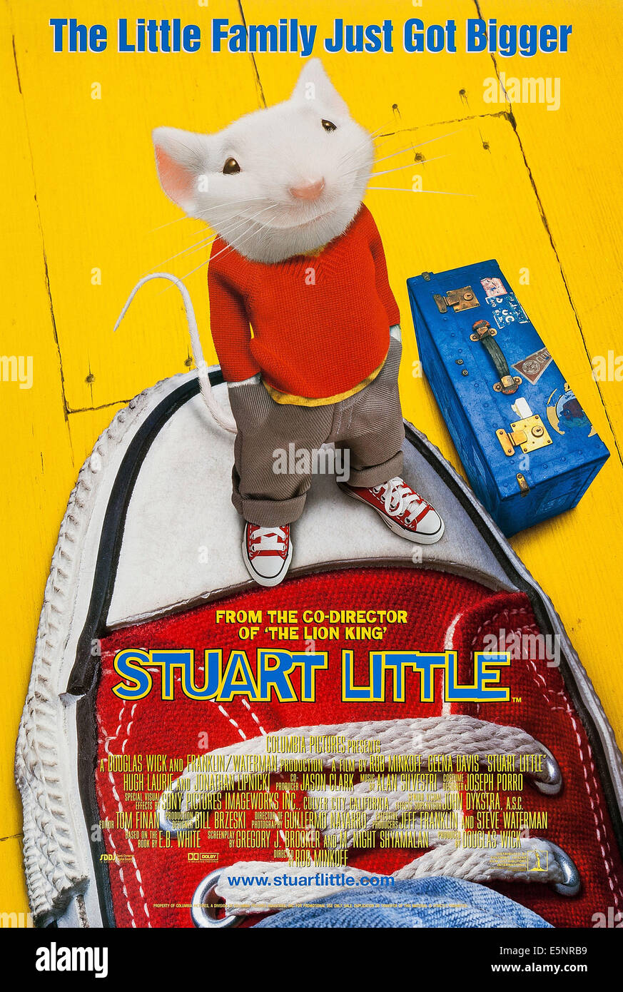 STUART LITTLE, US advance poster art, 1999. ©Columbia Pictures/ Courtesy: Everett Collection. - Stock Image