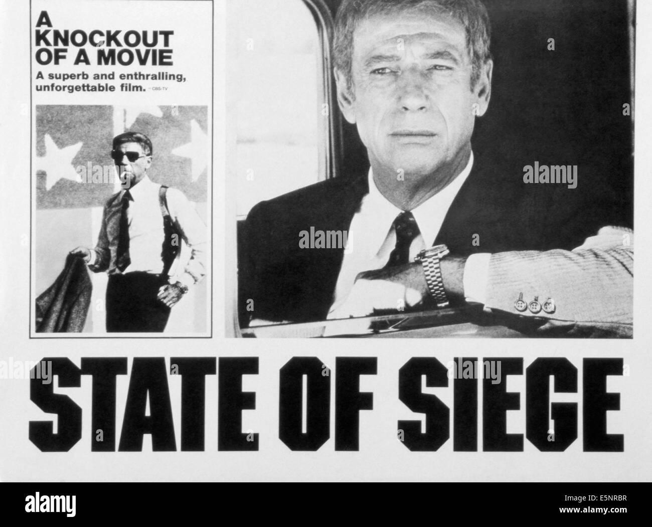 STATE OF SIEGE, (aka ETAT DE SIEGE), Yves Montand, 1973 - Stock Image
