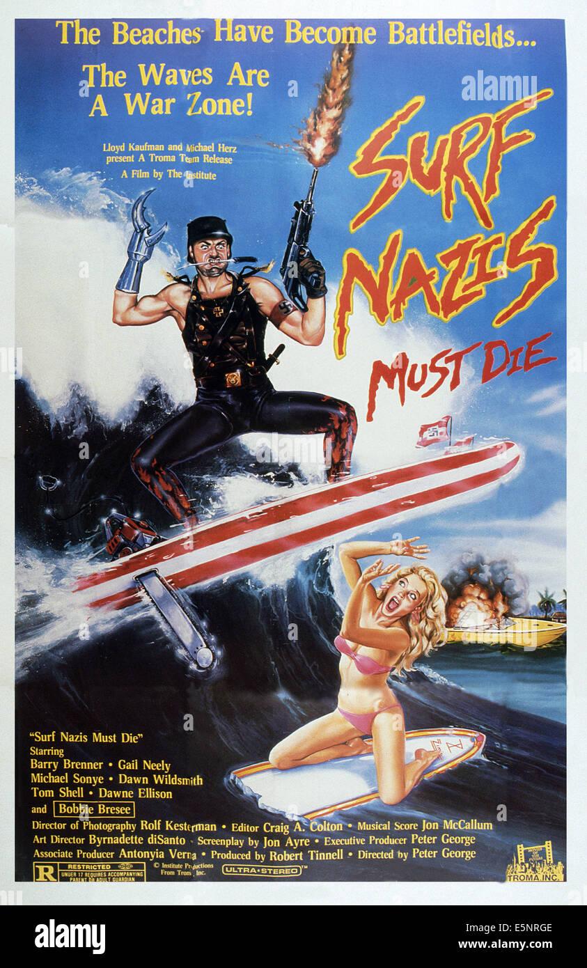 Surf Nazis Must Die Movie Poster Large 24inx36in Ebay