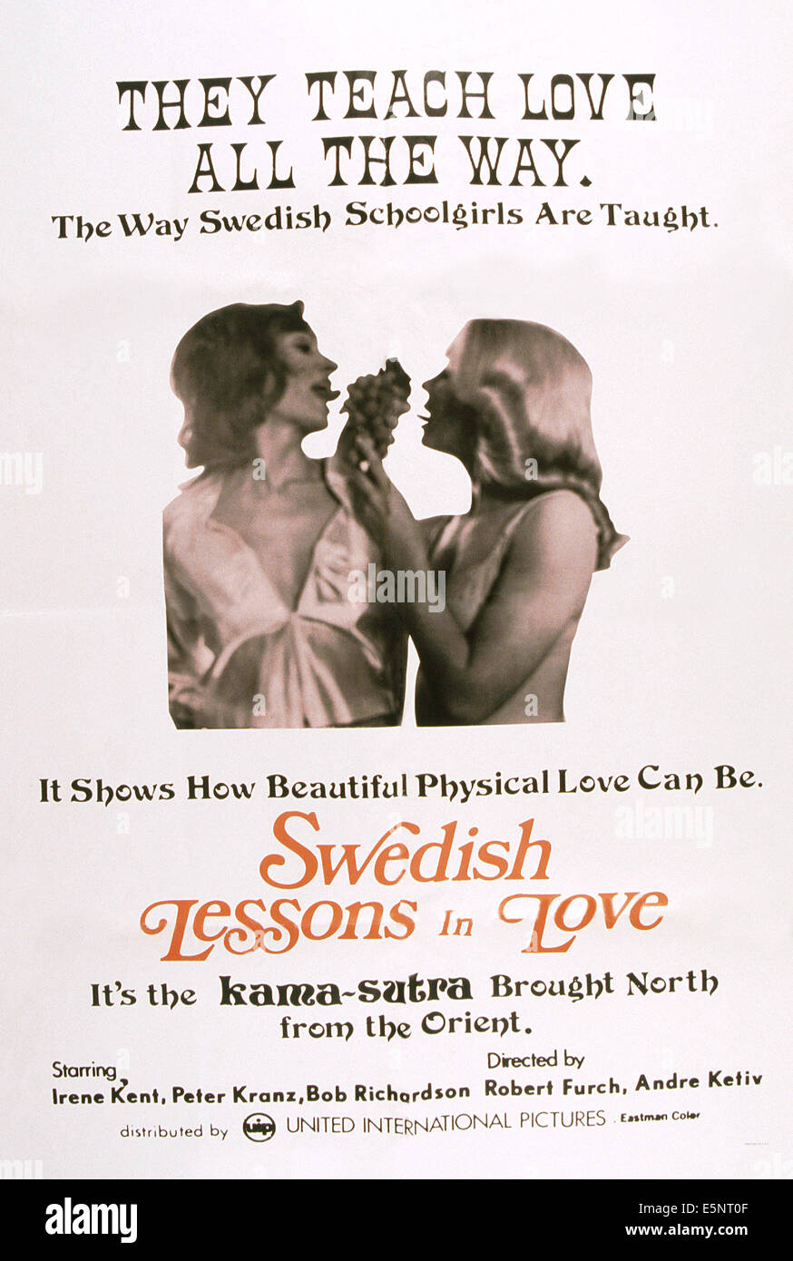 SWEDISH LESSONS IN LOVE, US poster, 1970s - Stock Image
