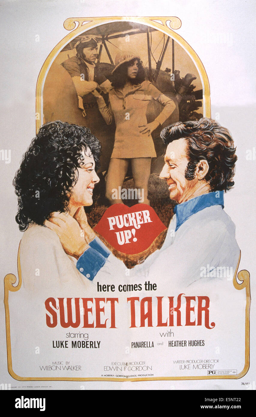 SWEET TALKER, US poster, Luke Moberly (top left and bottom right), 1970s - Stock Image
