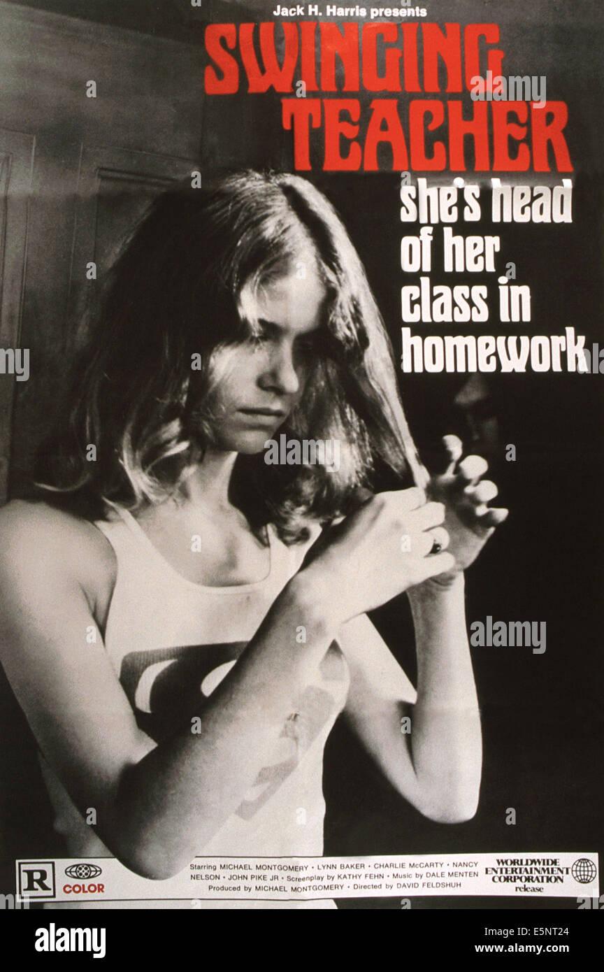 SWINGING TEACHER, US poster, 1970s - Stock Image