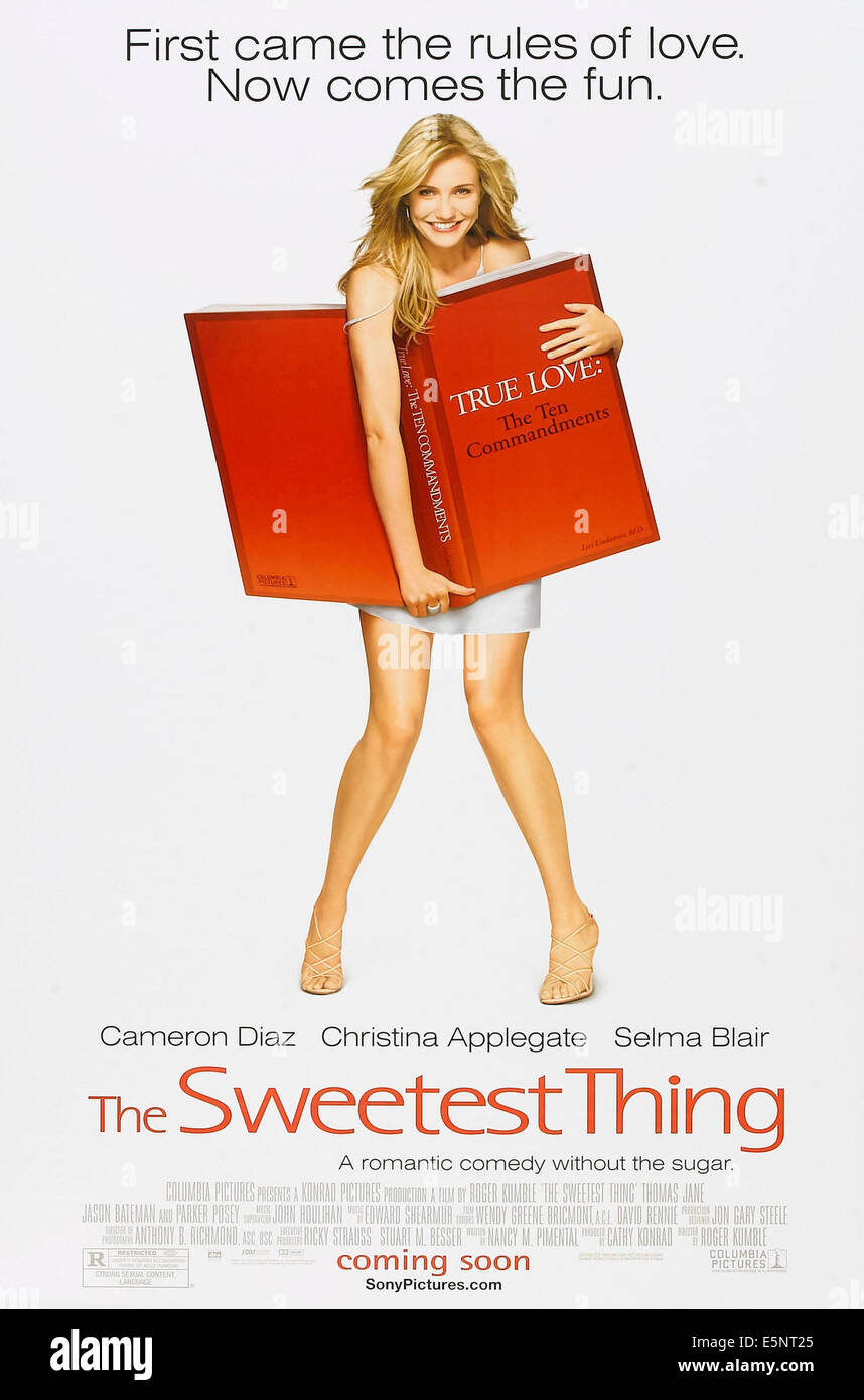 THE SWEETEST THING, US advance poster, Cameron Diaz, 2002, © Columbia/courtesy Everett Collection - Stock Image