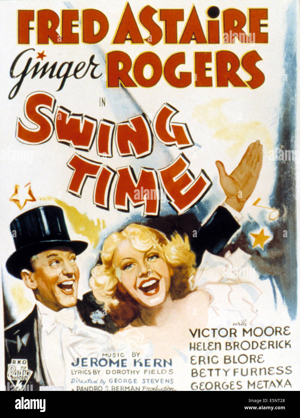Swing Time Fred Astaire Ginger Rogers 1936 Stock Photo Alamy