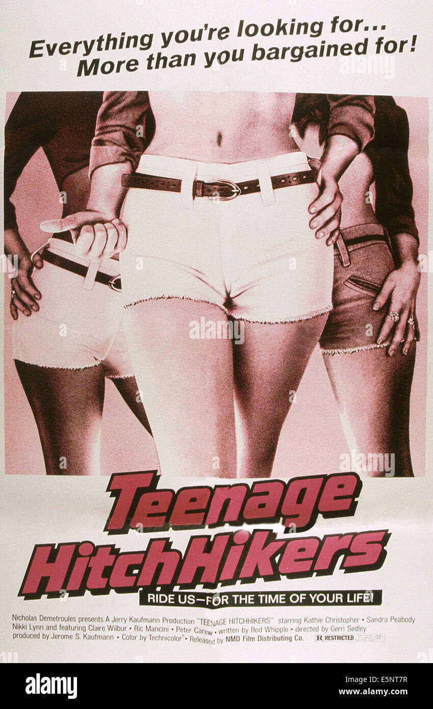 TEENAGE HITCHIKERS, US poster, 1970s - Stock Image