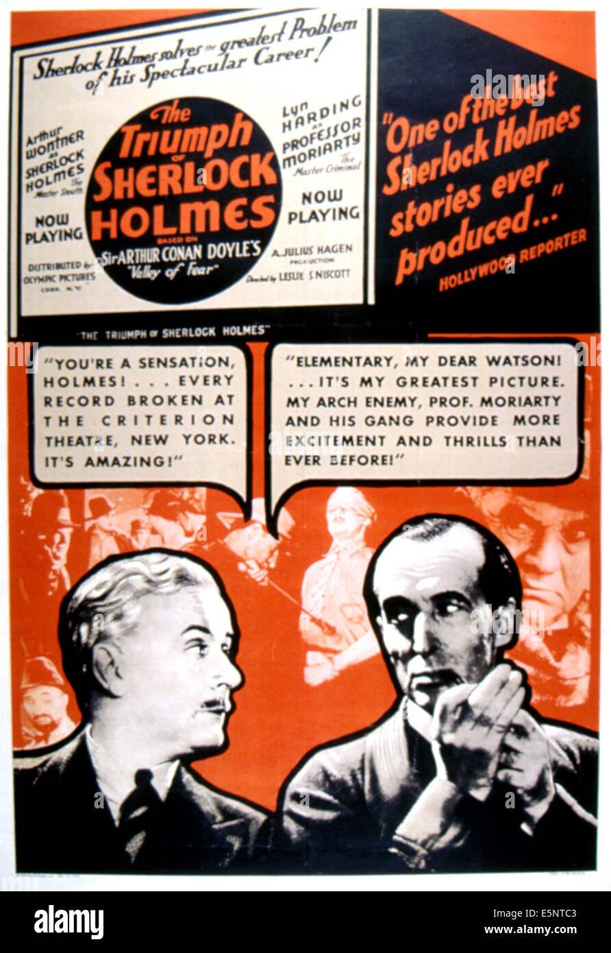 THE TRIUMPH OF SHERLOCK HOLMES, Ian Fleming, Arthur Wontner, 1935 - Stock Image