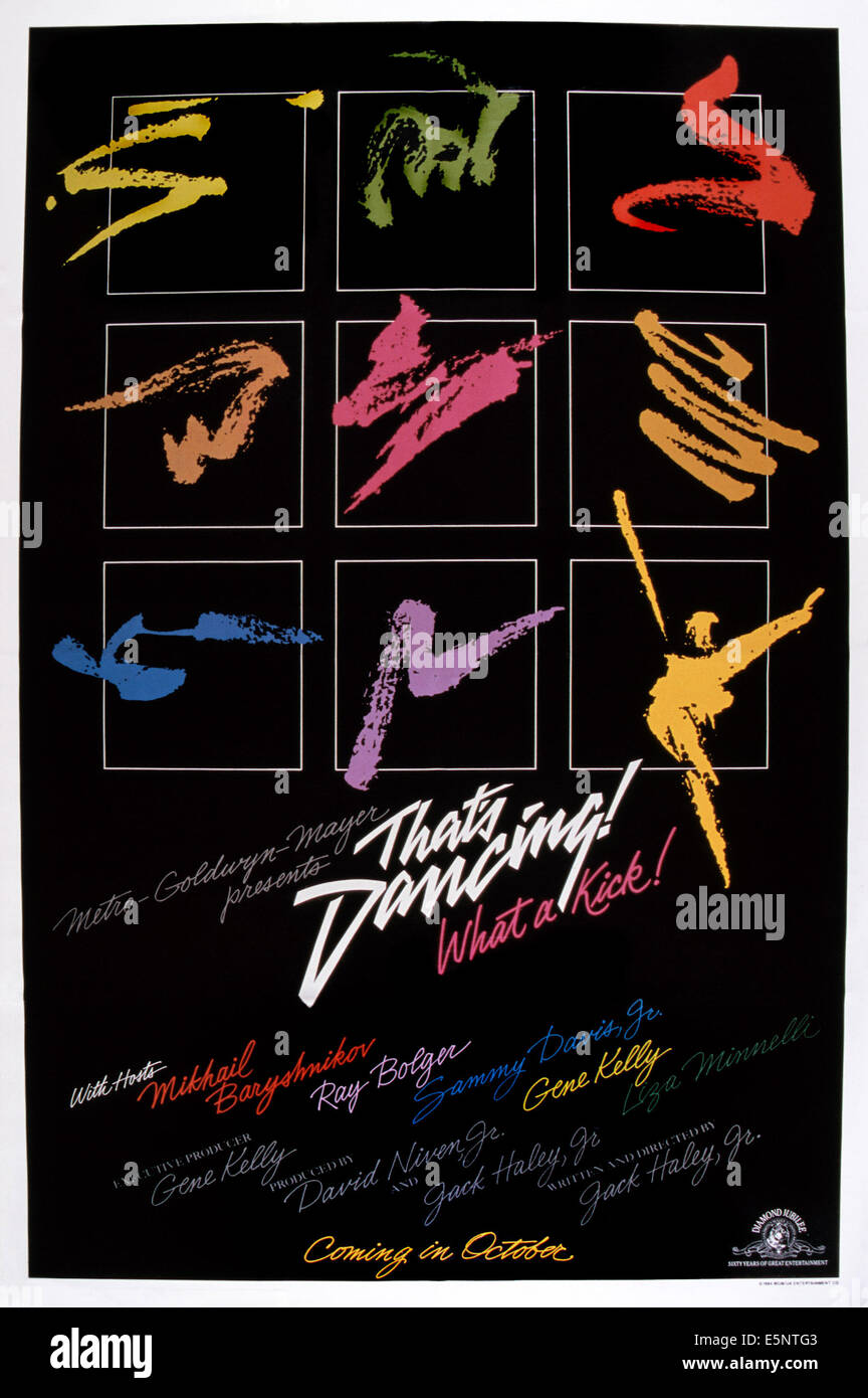 THAT'S DANCING!, US poster art, 1985. © MGM/courtesy Everett Collection - Stock Image
