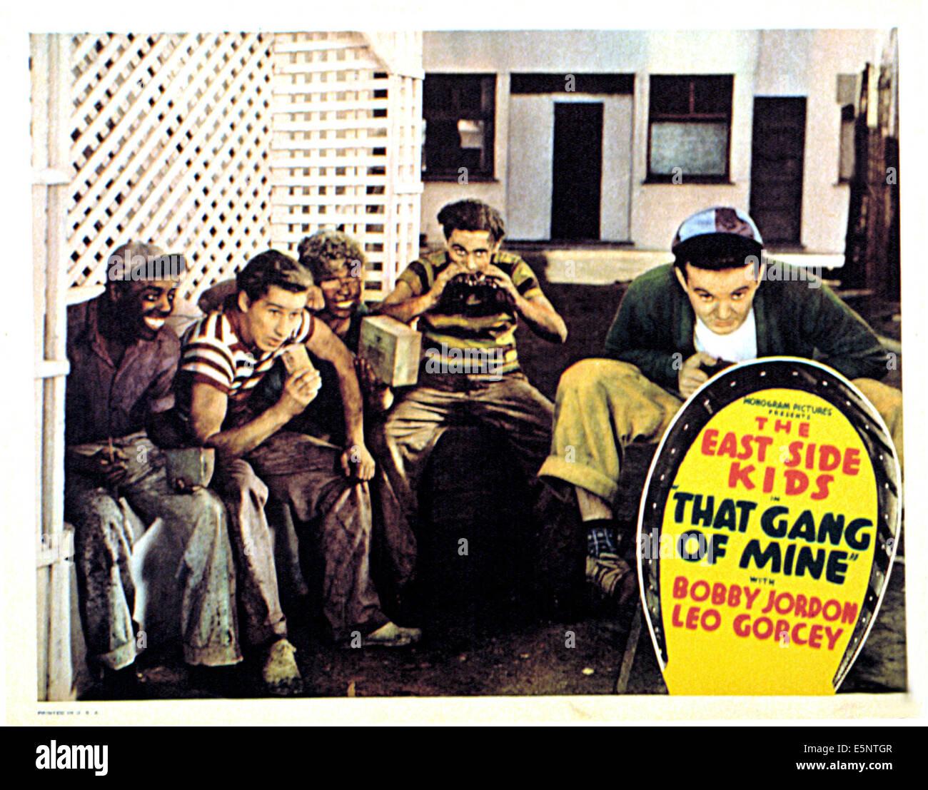 THAT GANG OF MINE, Ernest Morrison, Bobby Jordan, Eugene Francis, David  Gorcey, Leo Gorcey, 1940