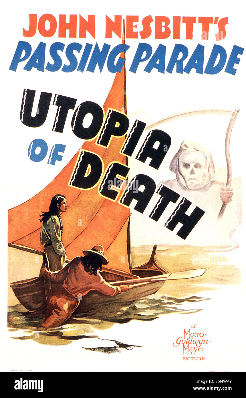 UTOPIA OF DEATH, US poster, 1940 - Stock Image