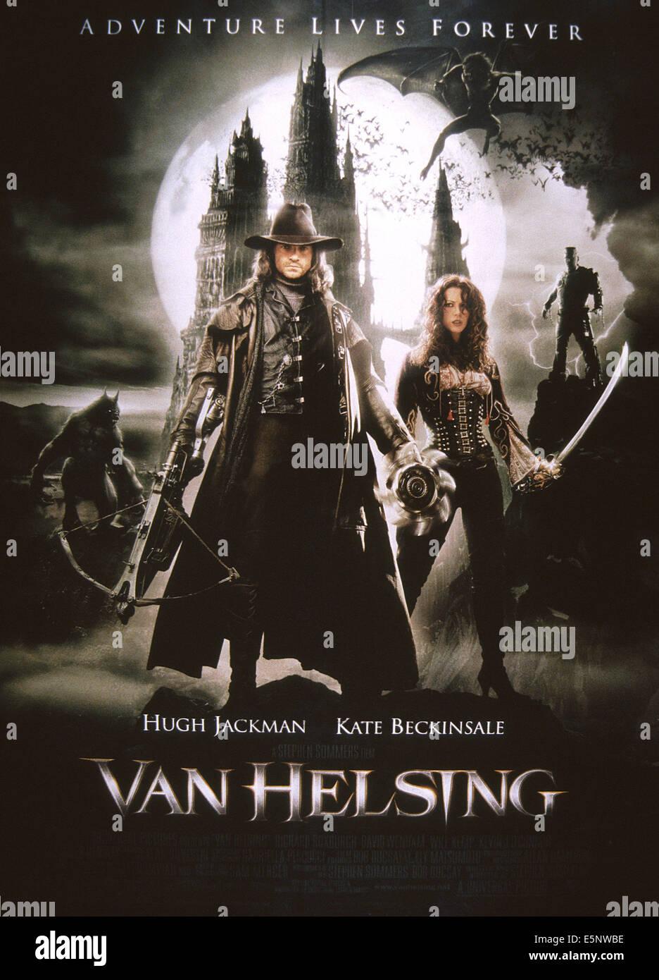 VAN HELSING, US poster art, from left: Hugh Jackman, Kate Beckinsale, 2004. © Universal Pictures/courtesy Everett - Stock Image