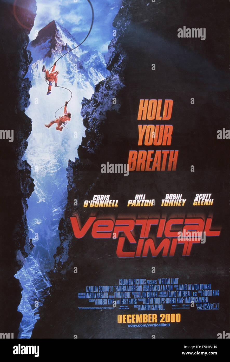 VERTICAL LIMIT, US advance poster art, 2000. ©Columbia Pictures/courtesy Everett Collection - Stock Image