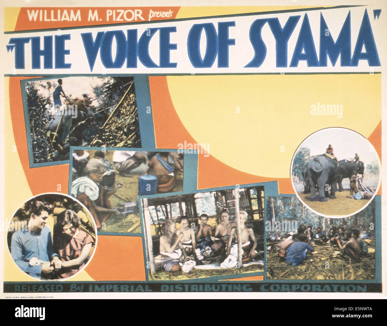 THE VOICE OF SYAMA, US lobbycard, 1930s - Stock Image