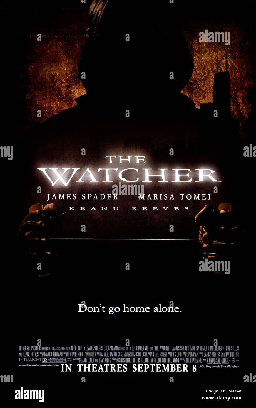 THE WATCHER, US advance poster art, 2000, © Universal/courtesy Everett Collection - Stock Image