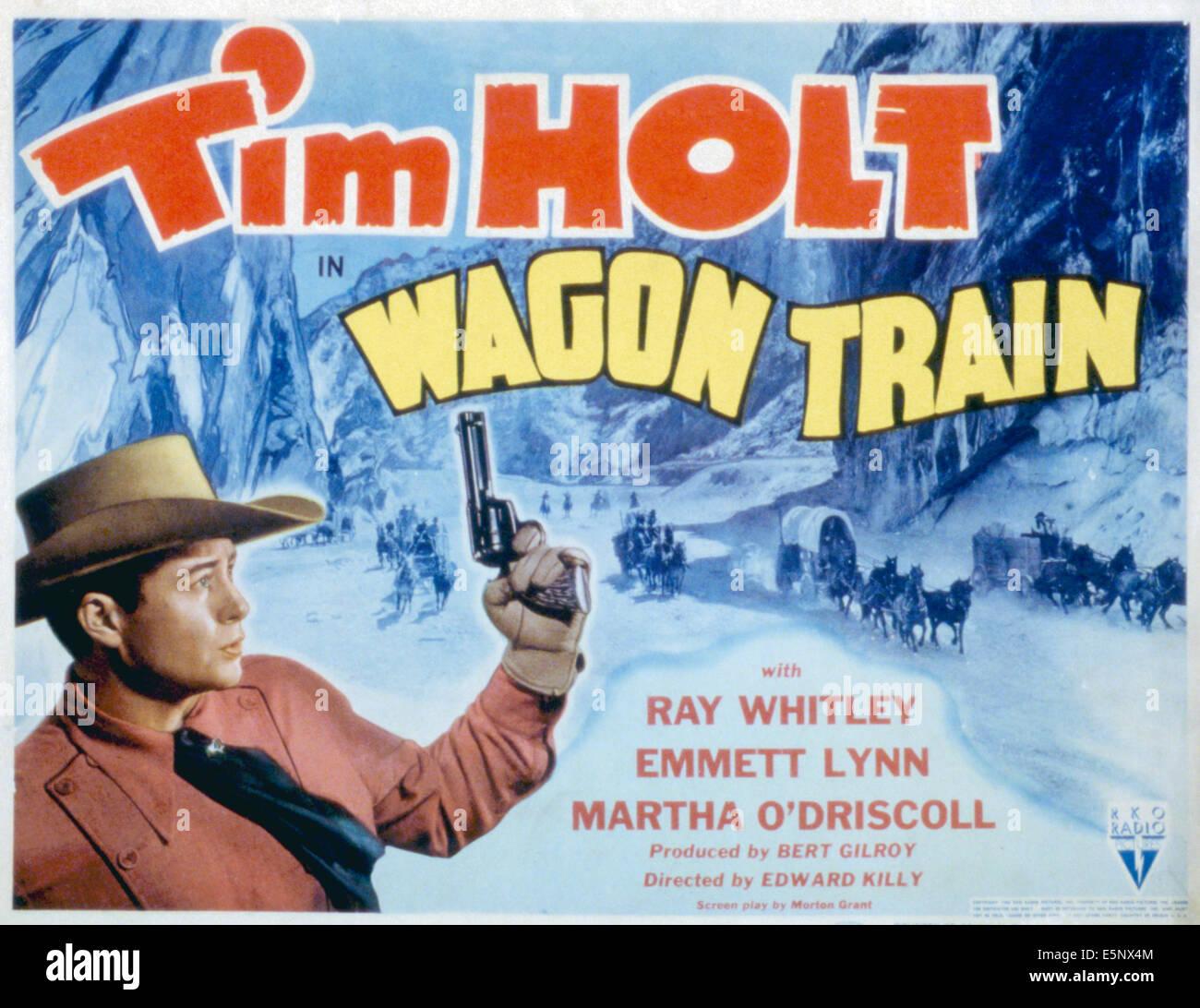 WAGON TRAIN, Tim Holt, 1940. - Stock Image