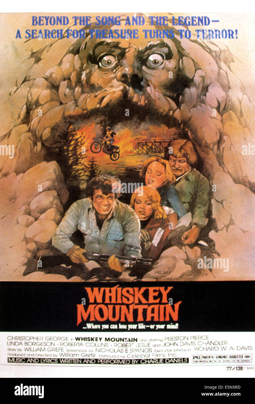 WHISKEY MOUNTAIN, Christopher George, Linda Borgeson, Roberta Collins, 1977 - Stock Image