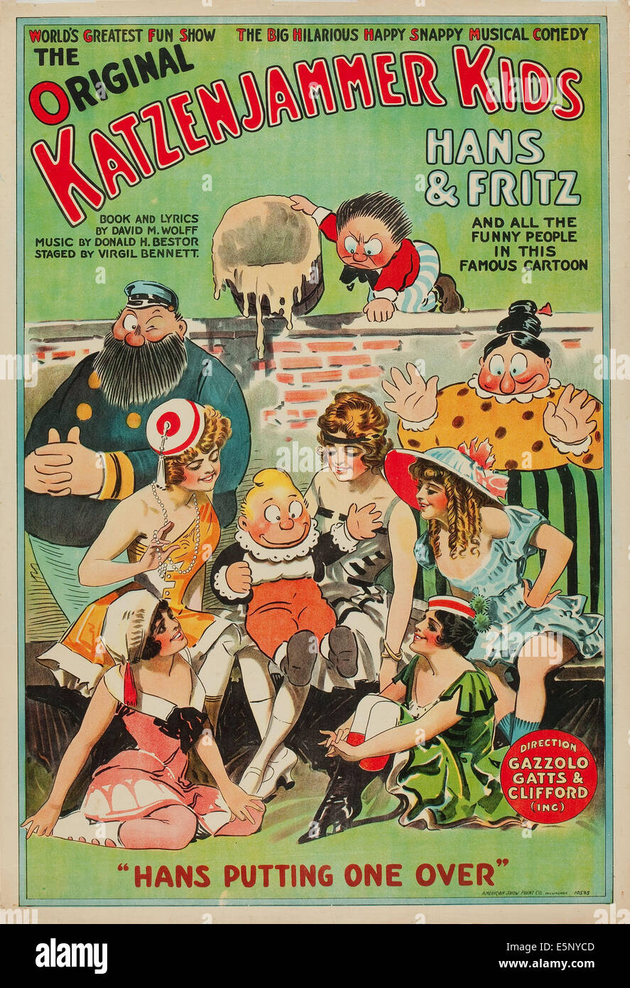 THE KATZENJAMMER KIDS, clockwise from left: The Captain, Fritz Katzenjammer, Mrs. Katzenjammer, Hans Katzenjammer - Stock Image