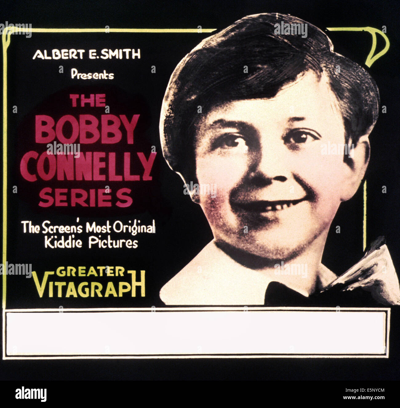 Poster art for Bobby Connelly series of short films, 1910s - Stock Image