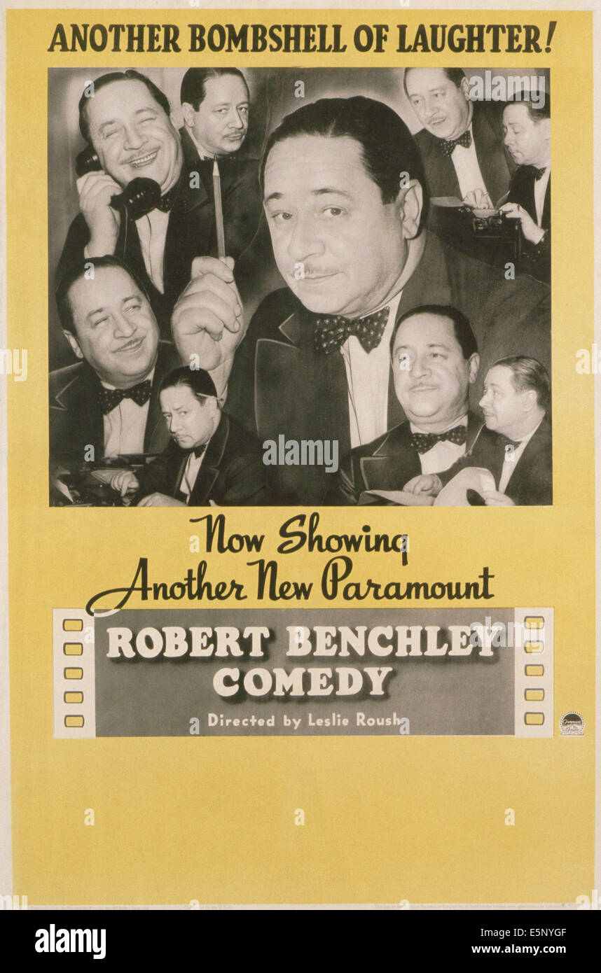 Generic post for Robert Benchley short films, 1930s - Stock Image
