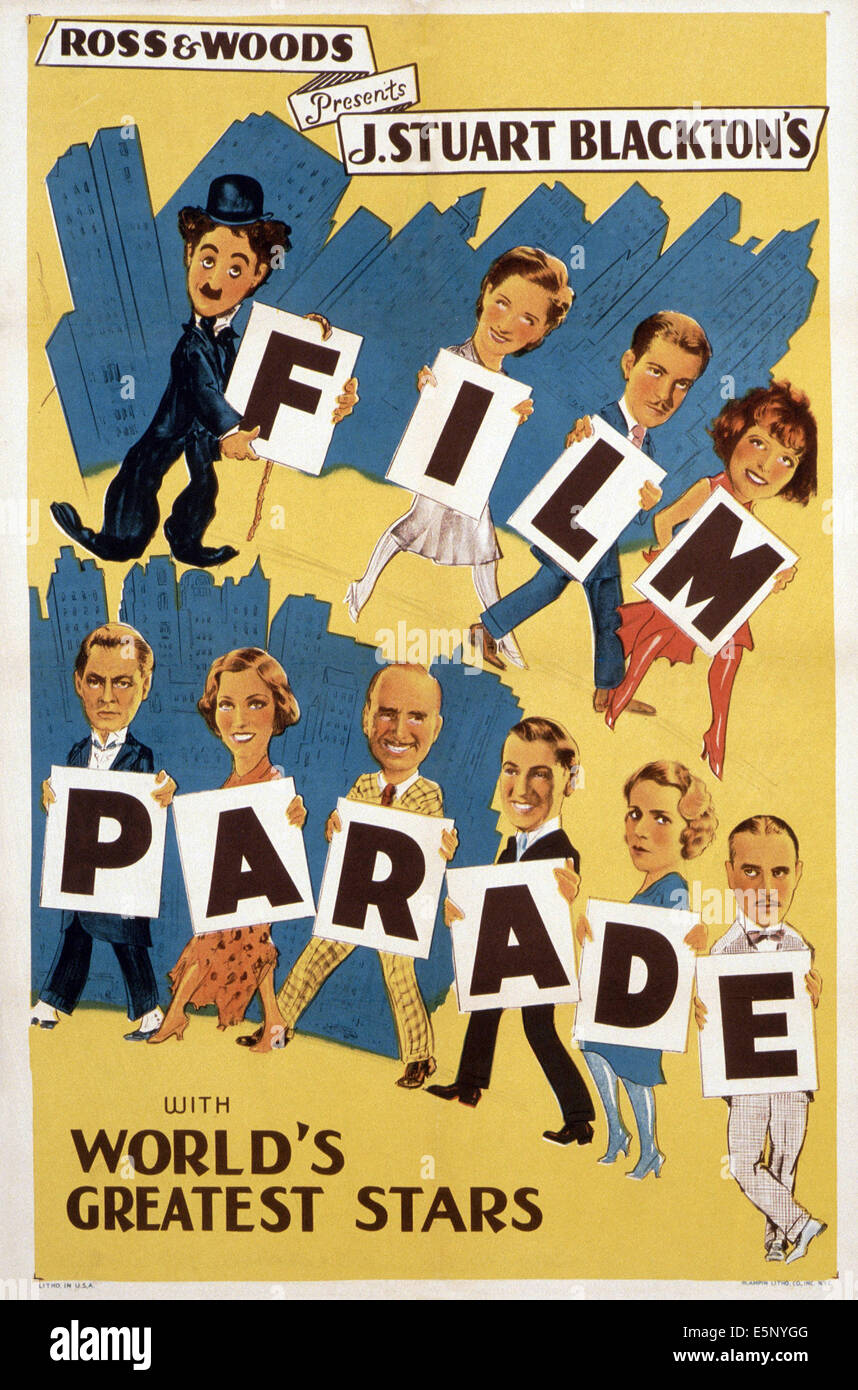J. STUART BLACKTON'S FILM PARADE, ca. 1930 - Stock Image