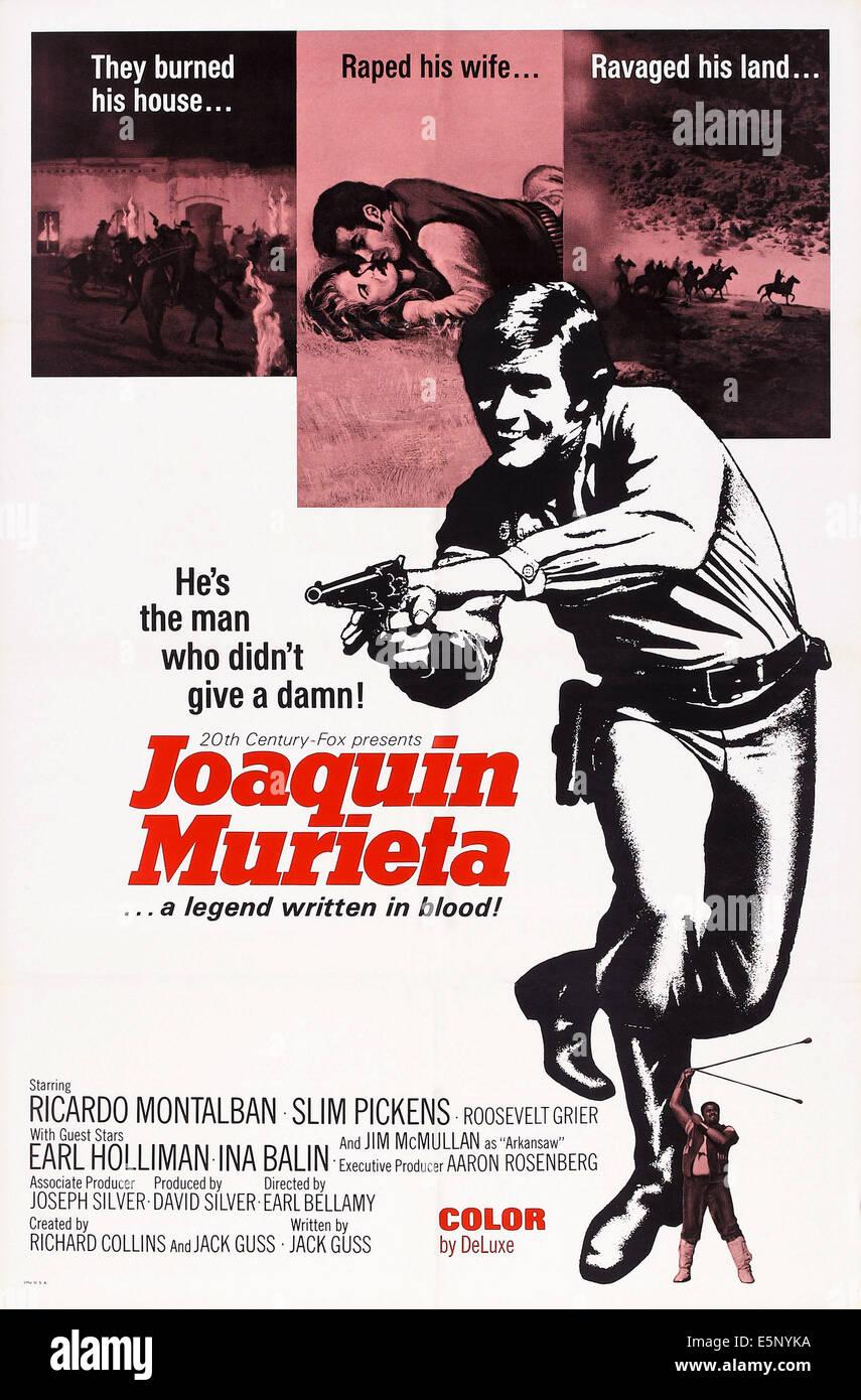 THE DESPERATE MISSION, (aka JOAQUIN MURIETA), US poster, 1969 - Stock Image