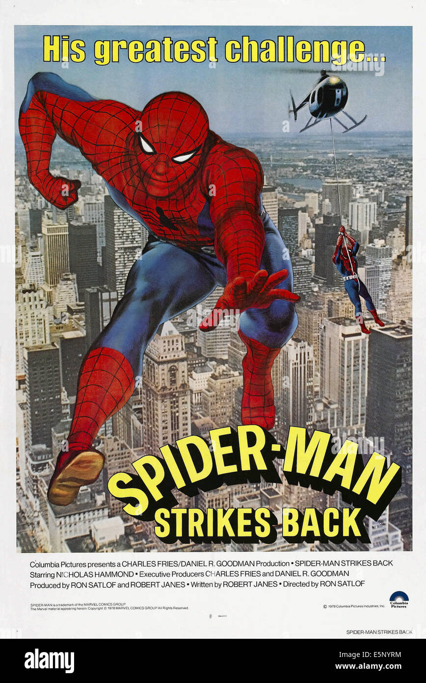 SPIDER MAN STRIKES BACK Aka SPIDERMAN US Poster
