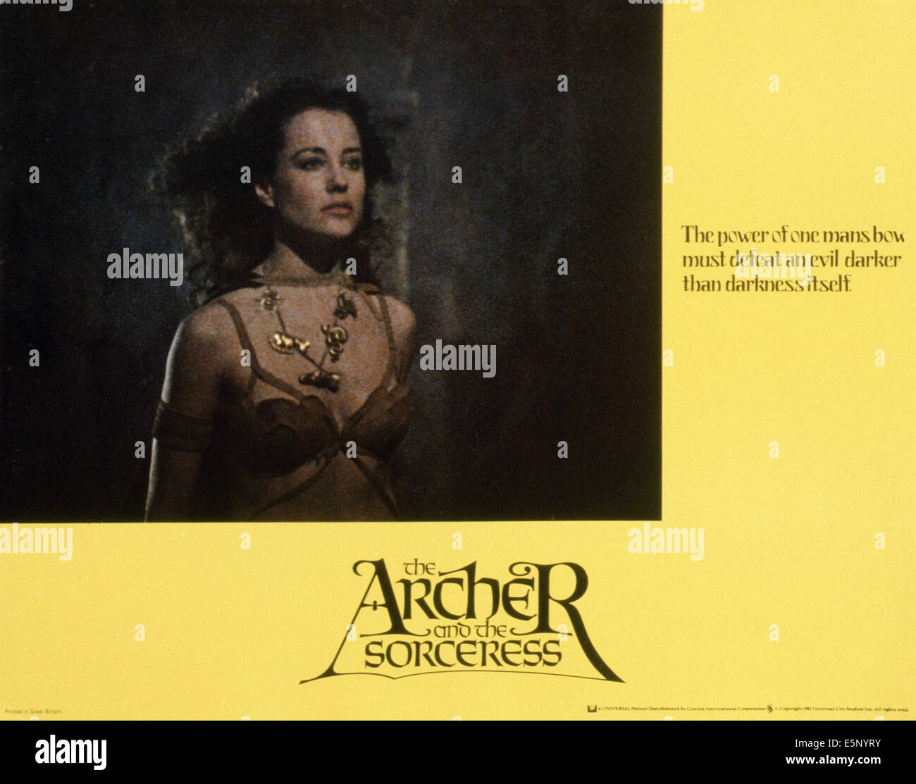 THE ARCHER: FUGITIVE FROM THE EMPIRE, (aka THE ARCHER AND THE SORCERESS), Belinda Bauer, 1981, © NBC/courtesy - Stock Image