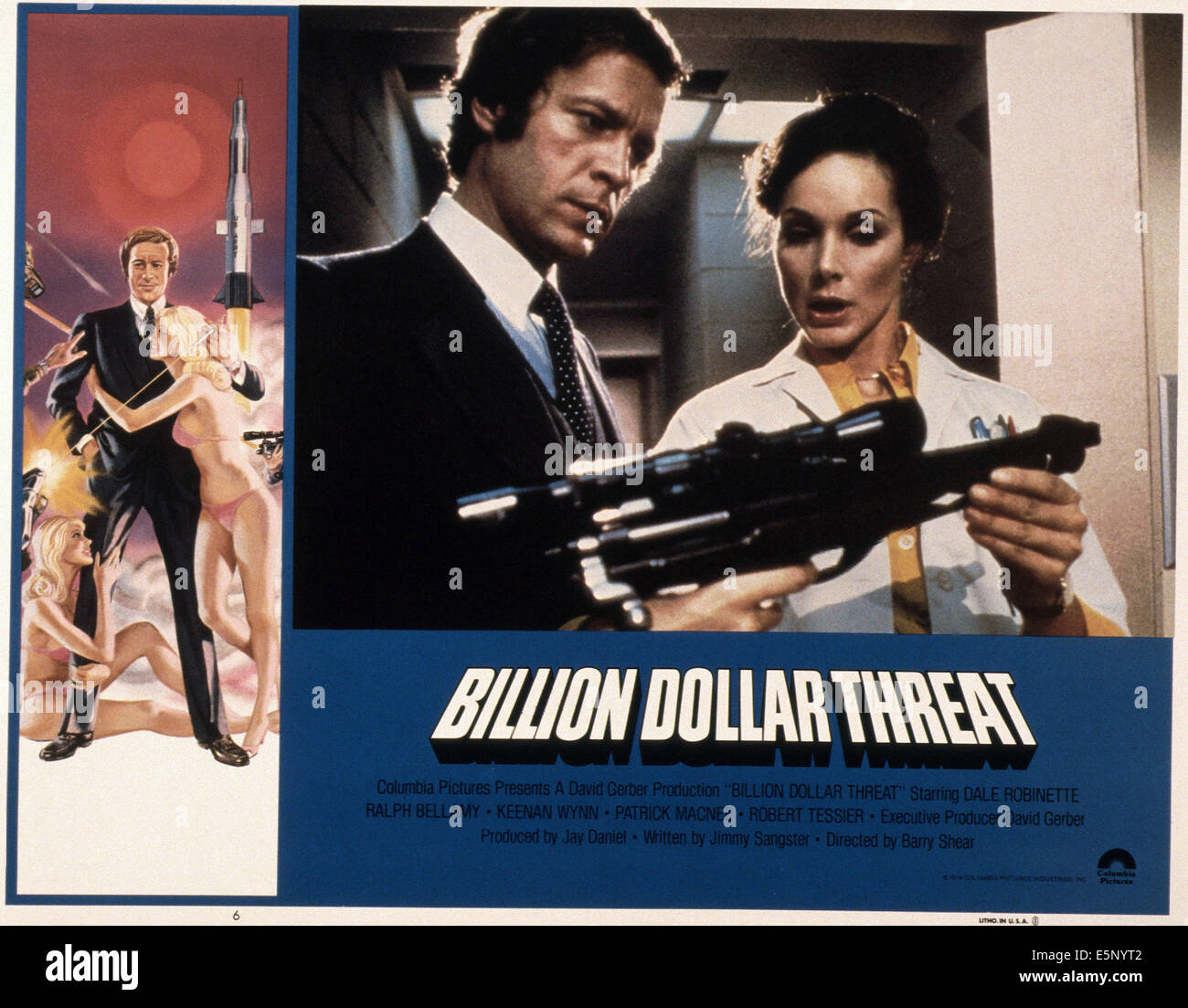 THE BILLION DOLLAR THREAT, Dale Robinette (left and center left), 1979, © Columbia/courtesy Everett Collection - Stock Image