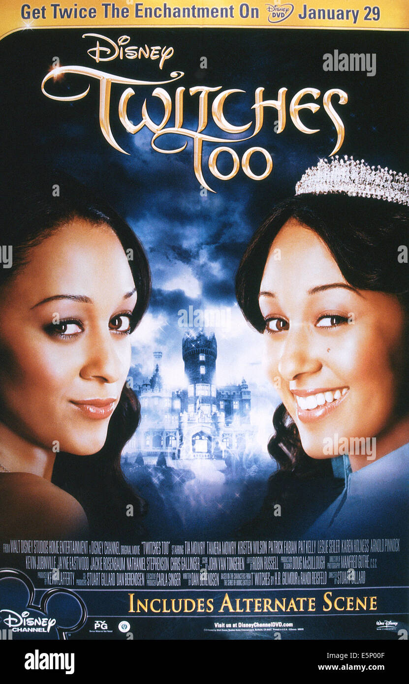 WITCHES TOO, US advance poster art, Tia Mowry, Tamera Mowry, 2007. ©Disney Channel/courtesy everett collection - Stock Image
